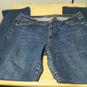 Woman's old navy blue jeans size 16 long stretch